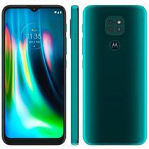 "Smartphone Motorola G9 Play 64GB 4G Tela 6.5"" Camera Tripla 48MP 2MP 2MP Frontal 8MP Verde Turquesa -"