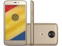 "Smartphone Motorola Moto C Plus 16GB Ouro - Dual Chip 4G Câm. 8MP Tela 5"" HD Proc. Quad Core"