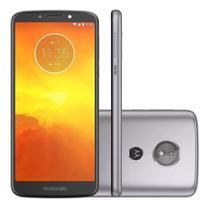 "Smartphone Motorola Moto E5 16GB 2GB Ram Dual Chip Android 8.0 Tela 5.7"" 1.4 GHz QuadCore 4G 13MP Cinza XT1944 -"