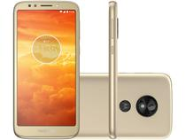 "Smartphone Motorola Moto E5 Play 16GB Ouro 4G - Quad Core 1GB RAM Tela 5,34"" Câm. 8MP + Selfie 5MP"