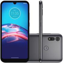 "Smartphone Motorola Moto E6S 32GB 4G Tela 6.1"" Câmera Dupla 13MP 2MP Frontal 5MP Cinza Titanium -"