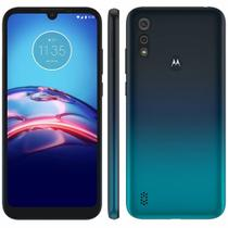 "Smartphone Motorola Moto E6S 64GB 4G Tela 6.1"" Câmera Dupla 13MP 2MP Frontal 5MP Azul Navy -"