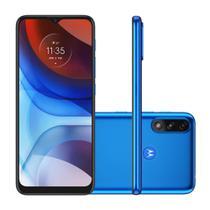 """Smartphone Motorola Moto E7 Power 32GB 2GB RAM  Câmera Dupla 13MP Tela 6.5"""" - Azul Metálico -"""