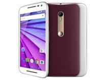 """Smartphone Motorola Moto G 3ª Geração Cabernet - 16GB Dual Chip 4G Câm. 13MP + Selfie 5MP Tela 5"""""""