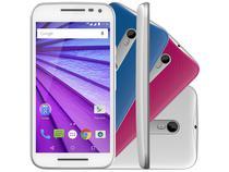Smartphone Motorola Moto G 3ª Geração Colors HDTV - 16GB Branco Dual Chip 4G Câm. 13MP + Selfie 5MP
