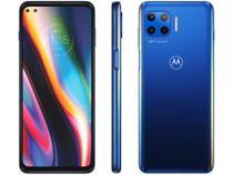 """Smartphone Motorola Moto G 5G Plus 128GB - Azul Oceano 5G 8GB RAM Tela 6,7"""" Câm. Quádrupla -"""