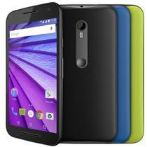 Smartphone Motorola Moto G Colors 3ª Geração (Dual Chip, Android 5.1, 16GB, 5.0pol, 13MP+5MP, 4G, HDTV) Preto -