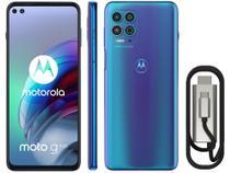 "Smartphone Motorola Moto G100 e Cabo USB-C/HDMI - 256GB Luminous Ocean 12GB RAM 6,7"" Câm. Quádrupla -"