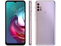 "Smartphone Motorola Moto G30 128GB White Lilac 4G - 4GB RAM Tela 6,5"" Câm. Quádrupla + Selfie 13MP"