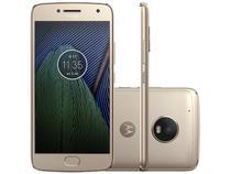 "Smartphone Motorola Moto G5 Plus 32GB Ouro  - Dual Chip Câm. 12MP + Selfie 5MP Tela 5.2"" Full HD"