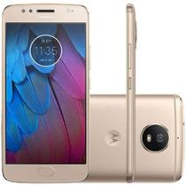 "Smartphone Motorola Moto G5S  Xt1792 32Gb Dual Chip 4G Android 7 Cam 16Mp Tela 5.2"" Wi-Fi Dourado -"