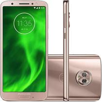 """Smartphone Motorola Moto G6 64GB 4GB OctaCore 1.8GHz 5.7"""" Câm 12MP+5MP 8MP Android 8.0 Ouro Rose -"""