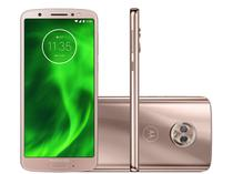 Smartphone Motorola Moto G6 64GB Ouro Rosê - Dual Chip 4G Câm. 12MP e 5MP + Selfie 8MP Flash
