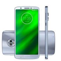 "Smartphone Motorola Moto G6 Plus 64GB XT1926 Dual Chip Tela 5.9"" 4G  Topazio - Azul Claro -"