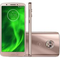 Smartphone Motorola Moto G6 XT1925-3, Android 8.0, Dual chip, 12MP, 5.7, 64GB, 4G - Ouro Rosê