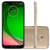 Smartphone Motorola Moto G7 Play 32GB Dual Chip 4G Tela 5.7 Câmera 13MP Frontal 8MP Android Pie 9.0 Ouro