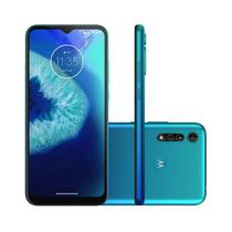 Smartphone Motorola Moto G8 Power Lite 64GB 4GB Tela 6.5 Camera 16MP 2MP Azul Aqua