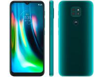 "Smartphone Motorola Moto G9 Play 64GB Verde - Turquesa 4GB RAM 6,5"" Câm. Tripla + Selfie 8MP -"