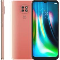 """Smartphone Motorola Moto G9 Play , 6,5"""", 64GB, Android 10, Dual Chip, Câmera Tripla, Rosa Quartzo -"""