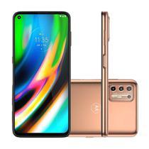 "Smartphone Motorola Moto G9 Plus 128GB 4GB RAM Câmera Quádrupla 64MP Tela 6.8"" - Ouro Rosê -"