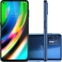 "Smartphone Motorola Moto G9 Plus 128GB Azul Indigo - Octa-Core 4GB RAM 6,8"" Câm. Quádrupla + Selfie 8MP -"