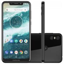 "Smartphone Motorola Moto One 64GB 4G Tela 5,9"" Câmera 13MP Selfie 8MP Dual Chip Android 8.1"
