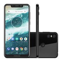 "Smartphone Motorola Moto One 64GB Black 4G Tela 5,9"" Câmera 13MP Selfie 8MP Dual Chip Android 8.1 -"