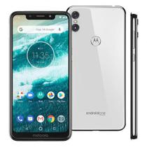 "Smartphone Motorola Moto One 64GB Branco 4G Tela 5,9"" Câmera 13MP Selfie 8MP Dual Chip Android 8.1 -"