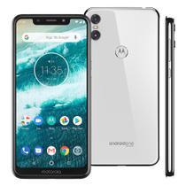 "Smartphone Motorola Moto One 64GB, Tela 5.9"", Android 8.1, OctaCore, 4GB, DualCam 13MP+2MP, Branco -"