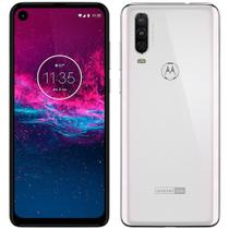 "Smartphone Motorola Moto One Action XT20131, 6.3"", Android 9, Câm 12+5+16MP, 128GB - Branco Polar -"