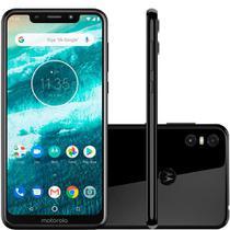 "Smartphone Motorola Moto one, Preto, XT1941, Tela de 5,9"", 64GB, 13MP+2MP -"