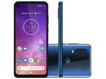 "Smartphone Motorola Moto One Vision 128GB Tela 6.3"" 48MP+5MP 25MP Azul Safira -"
