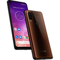 "Smartphone Motorola Moto One Vision , Bronze, XT1970-1, Tela de 6,3"", 128GB,  48MP -"