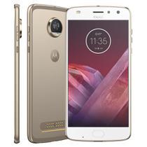 "Smartphone Motorola Moto Z2 Play  Dual Chip Android 7.0 Tela 5.5"" Octa-Core 64GB Wi-Fi 4G Câmera 12MP (Dourado) -"