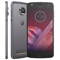 "Smartphone Motorola Moto Z2 Play Dual Chip Tela 5,5"" Octa-Core 64GB Câmera 12MP - Platinum -"