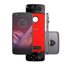 Smartphone Motorola Moto Z2 Play Gamepad Edition - 64GB Platinum Dual Chip 4G Câm. 12MP + Selfie 5MP
