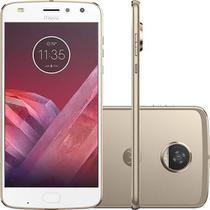 Smartphone Motorola Moto Z2 Play, Ouro + Moto Snap Motorola Insta-Share Projector, Projetor -