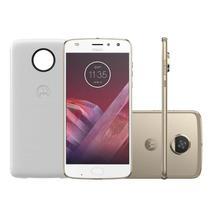 "Smartphone Motorola Moto Z2 Play Ouro Power Edition DualChip 64GB Tela 5.5"" Câmera 12 MP -"