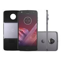 "Smartphone Motorola Moto Z2 Play Platinum Projector Edition DualChip 64GB Tela 5.5"" Câmera 12 MP -"