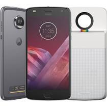 Smartphone Motorola Moto Z2 Play Polaroid Edition DualChip Android 7.1.1 OctaCore 64GB 12MP Platinum -