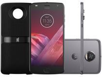 "Smartphone Motorola Moto Z2 Play Sound Edition - 64GB Platinum 4G 4GB RAM Tela 5,5"" Câm. 12MP"