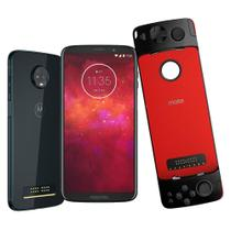 Smartphone Motorola Moto Z3 Play, Gamepad, 64GB, 6'', Dual Chip, Android 8.1, 4GB - Indigo