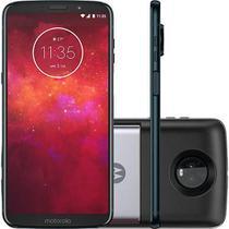 Smartphone Motorola Moto Z3 Play - Power Pack  Dtv Edition  Tela 6 Dual Chip  64GB  12 + 5MP (Dual Traseira) - Índigo -