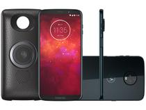 "Smartphone Motorola Moto Z3 Play Stereo Speaker - 64GB Índigo 4G 4GB RAM 6"" Câm. Dupla + Selfie 8MP"