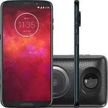 Smartphone Motorola Moto Z3 Play - Stereo Speaker Edition Tela 6 64GB Dual Chip 12 + 5MP (Dual Traseira) - Índigo -