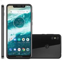 Smartphone Motorola One 64GB 4G Tela 5.9'' Dual Chip 4GB RAM Câmera Dupla + Selfie 8MP - Preto -