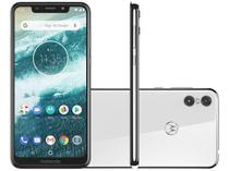 "Smartphone Motorola One 64GB Branco 4G Qualcomm - 4GB RAM Tela 5,9"" Câm. Dupla + Câm. Selfie 8MP"