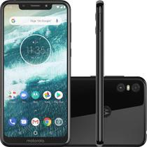 Smartphone Motorola One 64GB Preto  Dual Chip Android Oreo 8.1 Tela 5.9 2.0 GHz Octa-Core Qualcomm 4G Camera 13 + 5MP (Dual Traseira)