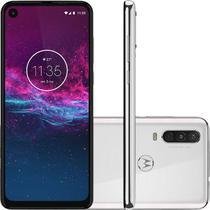 "Smartphone Motorola One Action 128GB 4G - 4GB RAM 6,34"" Câm. Tripla + Câmera Selfie 12MP-Branco -"