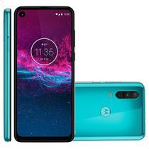 Smartphone Motorola One Action 128GB 4G Tela 6.3'' Dual Chip 4GB RAM Câmera Tripla + Selfie 12MP Aquamarine -